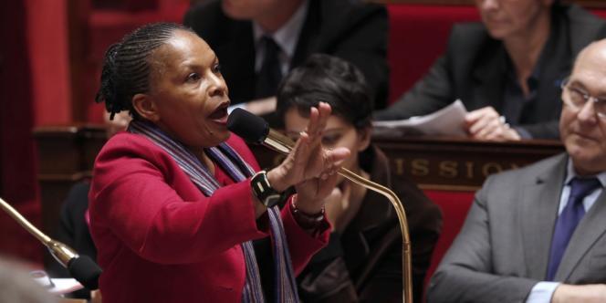 Christiane Taubira, le 19 décembre.