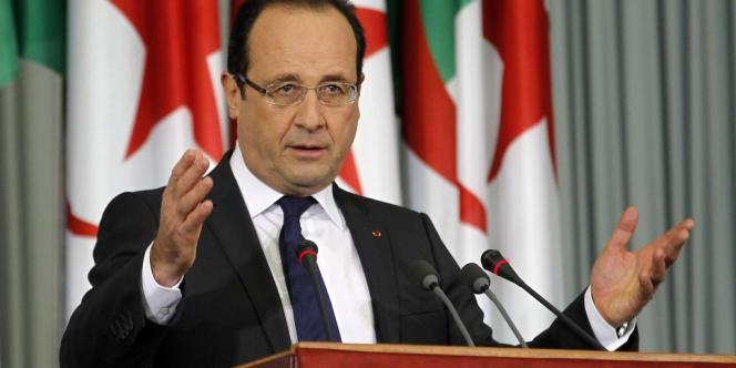 François Hollande à Alger, le 20 décembre 2012.
