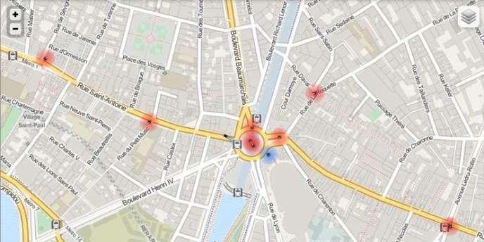 Capture d'écran du site Paris Sous-surveillance.