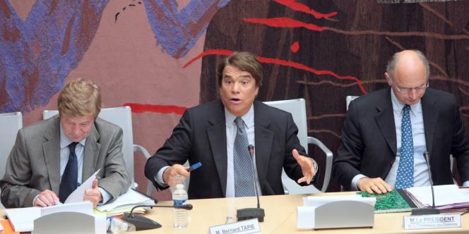 Bernard Tapie avait été auditionné en septembre 2008 par la commission des finances de l'Assemblée nationale sur les conditions de l'arbitrage de son litige avec le Crédit lyonnais.
