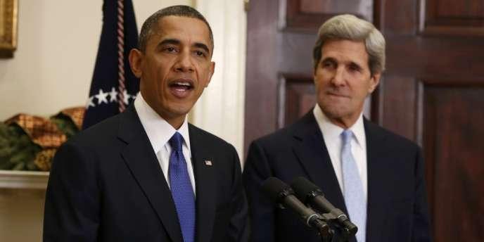 Barack Obama a officialisé la nomination de John Kerry à la tête du département d'Etat, le 21 décembre à Washington.