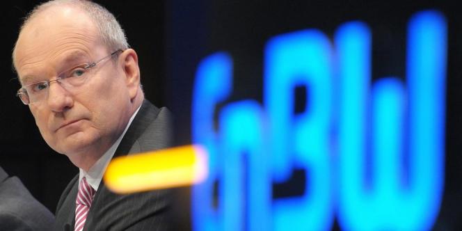 Le PDG d'EnBW, Hans-Peter Villis, le 19 avril 2011 à Karlsruhe.