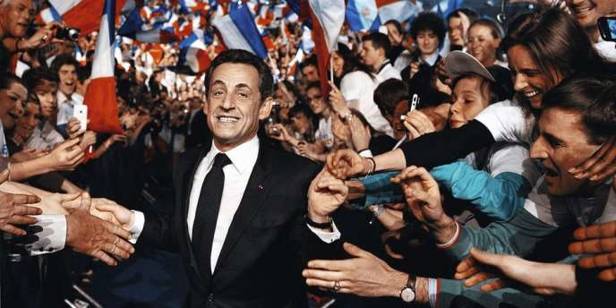 Nicolas Sarkozy lors de son grand meeting de Villepinte, le 11 mars 2012.