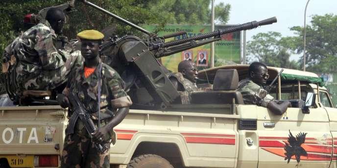 Des membres de la garde présidentielle centrafricaine à Bangui, en mars 2005.