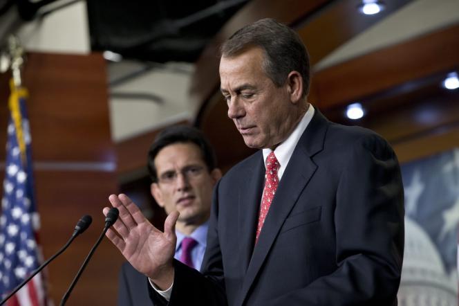 John Boehner, chef des républicains à la Chambre, le 21 décembre, au Capitole, à Washington.