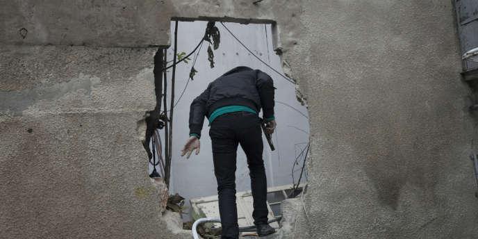 Le quartier d'Isaa, à Alep, le 23 décembre.