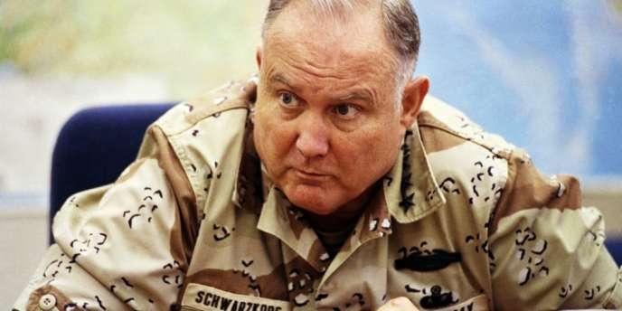 Le général Schwarzkopf en 1990.