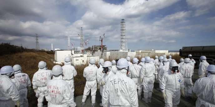 Visite à la centrale de Fukushima, le 20 février 2012.
