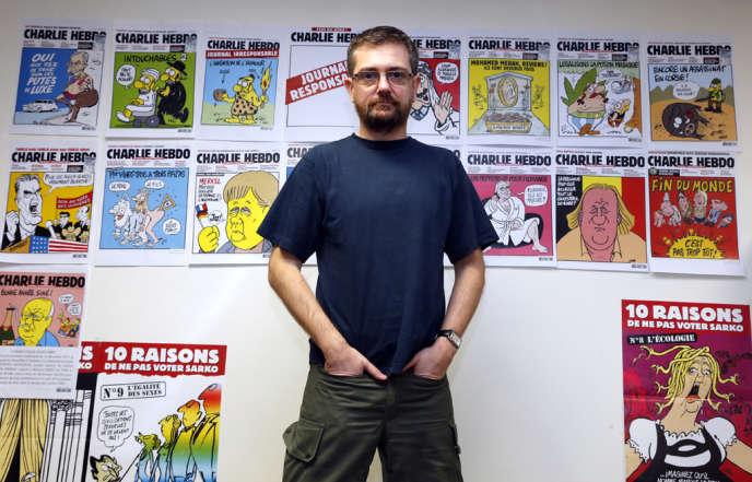 Charb, directeur de «Charlie Hebdo», en décembre 2012.