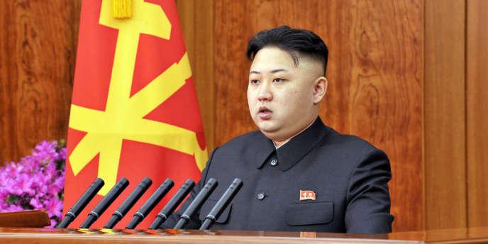 Kim Jong-un a adressé ses vœux, mardi 1er janvier, par un discours télédiffusé par la télévision d'Etat.