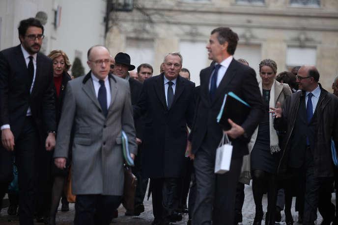 Jean-Marc Ayrault et son gouvernement, jeudi 3 janvier, à l'Elysée.