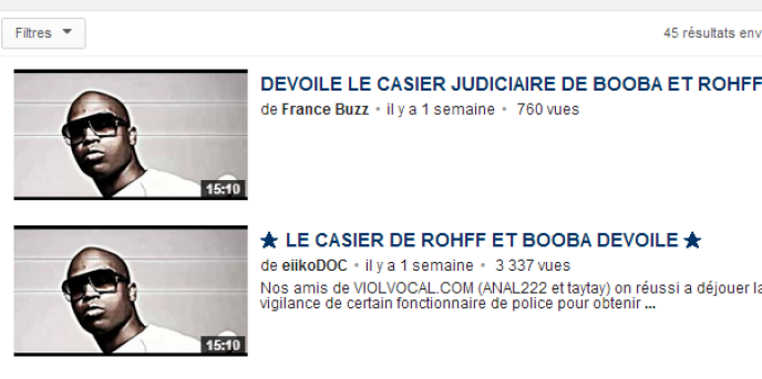 Capture d'écran du site YouTube.