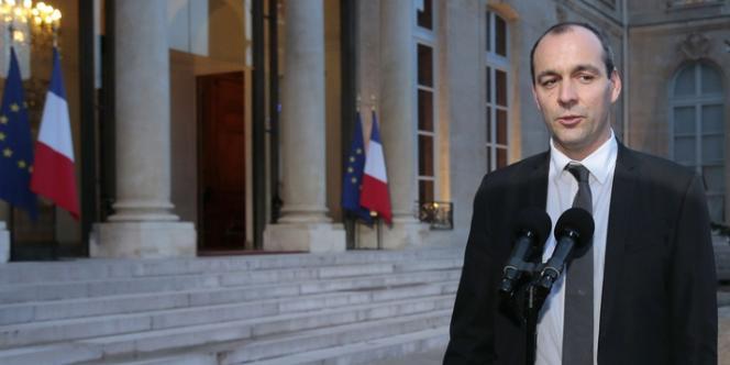 Laurent Berger à l'Elysée le 21 décembre.