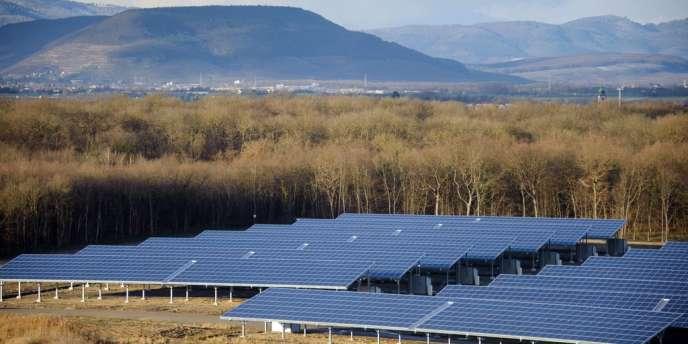 Des panneaux solaires à Ungersheim, dans le Haut-Rhin