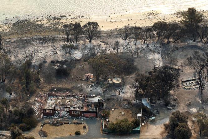 La ville de Dunalley, en Tasmanie, a été ravagée par les flammes samedi 5 janvier.