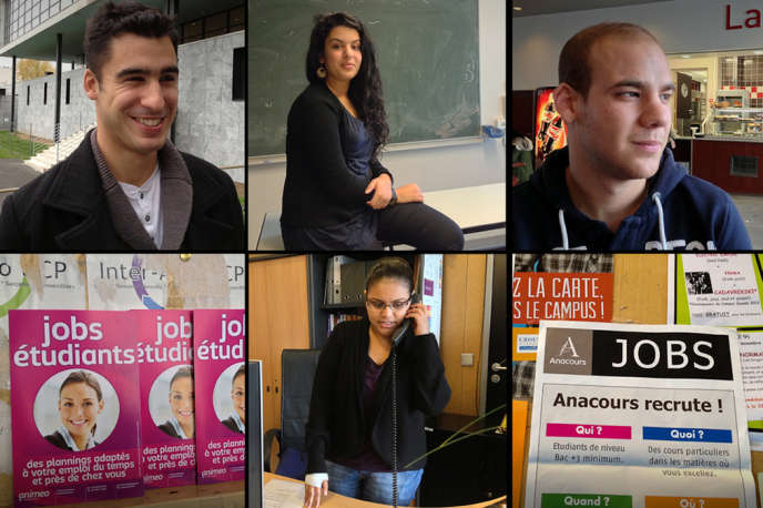 Léo et Dina exercent chacun un emploi parallèlement à leurs études.