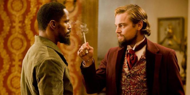Jamie Foxx et Leonardo DiCaprio dans le film américain de Quentin Tarantino,