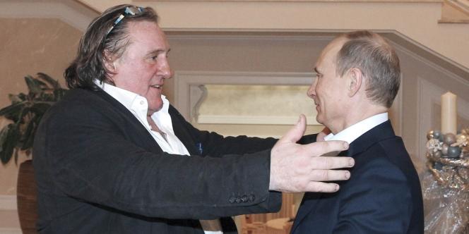 Gérard Depardieu et le président russe Vladimir Poutine, le 5 janvier.