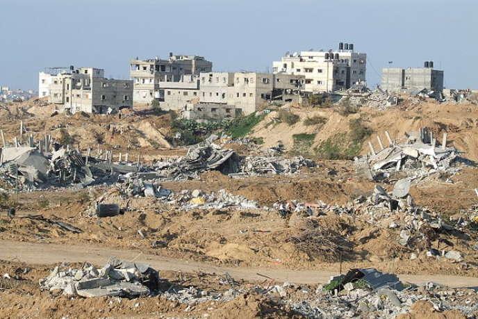 La ville de Jabalia, près de Gaza, après le retrait des troupes israéliennes en janvier 2009.