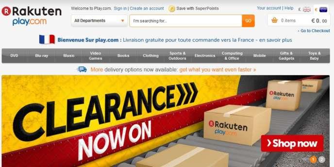 La page d'accueil de Play.com, en janvier 2013.
