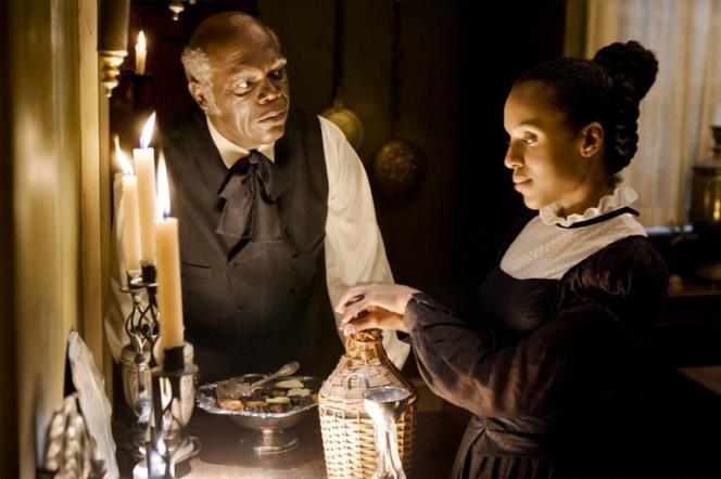 Samuel L. Jackson et Kerry Washington dans le film américain de Quentin Tarantino,