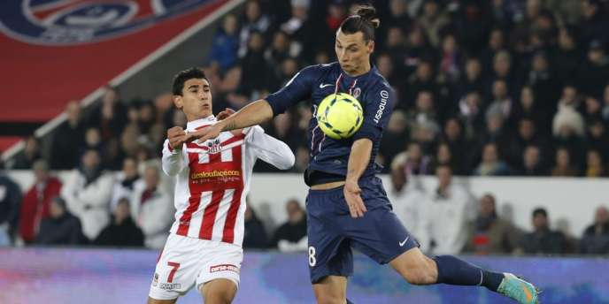 Benjamin André, d'Ajaccio, et le Parisien Zlatan Ibrahimovic.