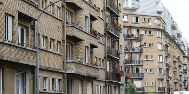 La cité du Square de l'Avre et des Moulineaux à Boulogne-Billancourt (Hauts-de-Seine).