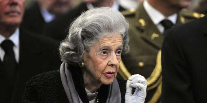 La reine Fabiola, sur une photo du 4 décembre 2009.