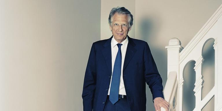 Dominique de Villepin, le 21 décembre 2012, dans ses bureaux du 17e arrondissement de Paris. -