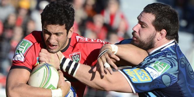 Maxime Mermoz, le 12 janvier à Toulon face à Cardiff.