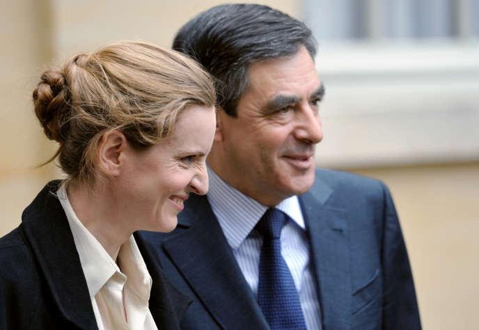 Les UMP Nathalie Kosciusko-Morizet et François Fillon, en février 2012 à Matignon.