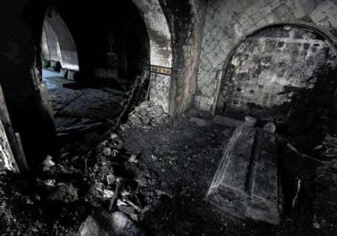 Le mausolée de Sidi Bou Saïd, au nord de Tunis, qui a été ravagé par un incendie criminel dans la soirée du 12 janvier.