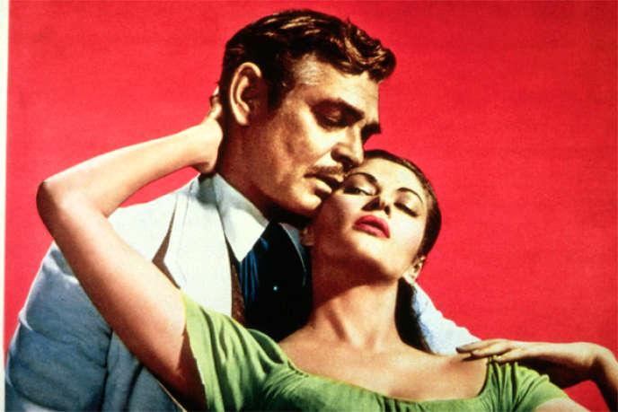 Clark Gable et Yvonne De Carlo dans le film américain de Raoul Walsh,