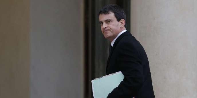 Manuel Valls, le 12 janvier à l'Elysée.