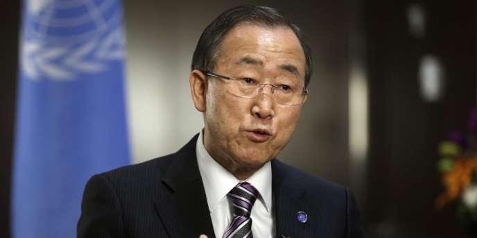 Le secrétaire général des Nations unies, Ban Ki-moon, le 11 janvier à l'ONU.