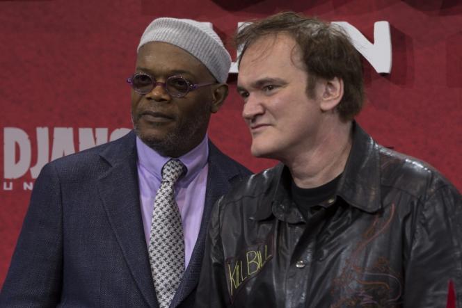 L'acteur Samuel L. Jackson et le réalisateur Quentin Tarantino lors de la première de