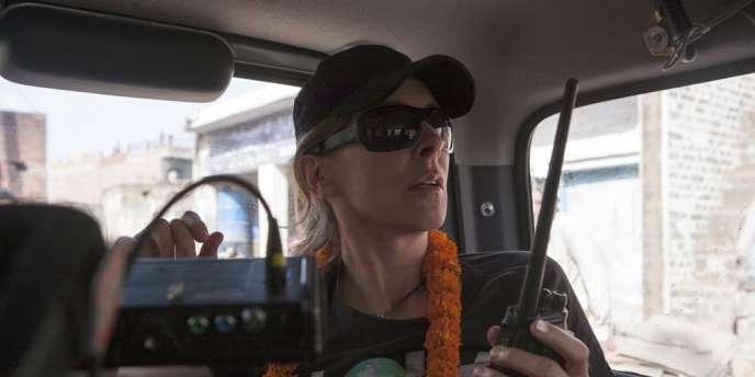 La réalisatrice Kathryn Bigelow sur le tournage de son film