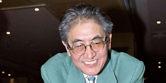 Le réalisateur japonais Nagisa Oshima à Cannes en janvier 1994.