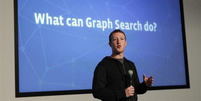 Marck Zuckerberg, le 15 janvier, lors de l'annonce du lancement d'un nouvel outil de recherche social sur Facebook.