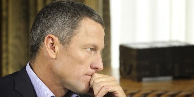 Lance Armstrong lors de son interview face à Oprah Winfrey, l'animatrice de CBS, le 14 janvier 2013.
