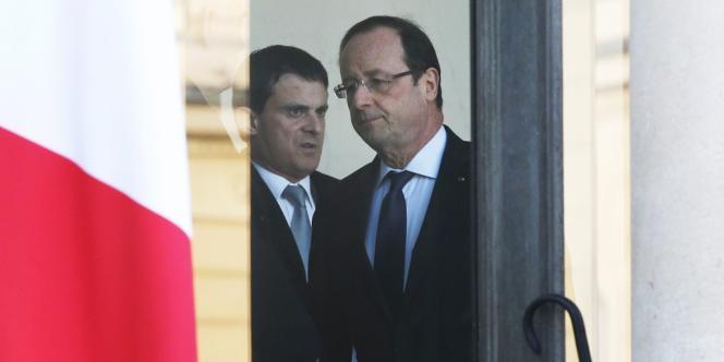 Manuel Valls, et le président de la République, François Hollande, à l'Elysée.