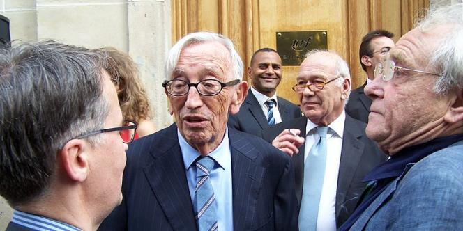 Le psychanalyste Jean-Bertrand Pontalis, lors de l'inauguration de la rue Gaston Gallimard à Paris, en juin 2011.