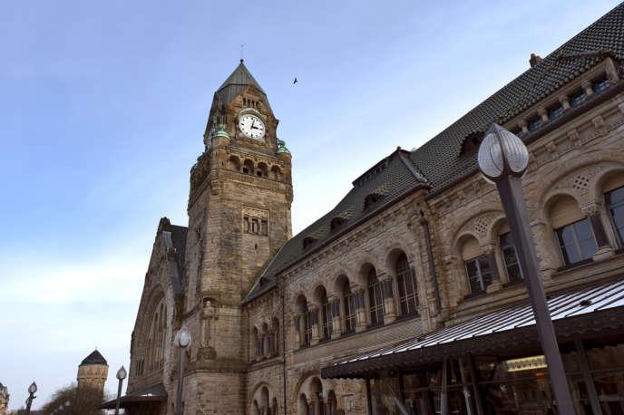 La façade principale de la gare de Metz