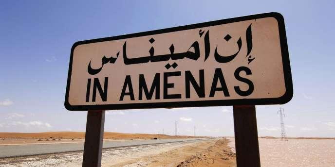 La ville d'In Amenas, à une centaine de kilomètres de la frontière libyenne.