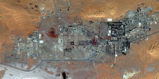 Vue aérienne du complexe gazier d'In Amenas en Algérie, près de la frontière libyenne.