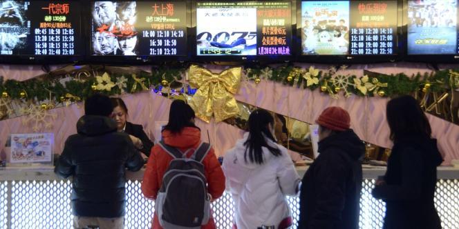 Une caisse de cinéma à Pékin le 18 janvier 2013.
