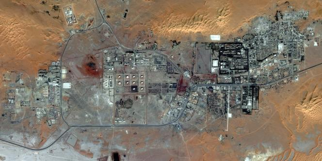 Image satellite du site gazier, prise en octobre 2012.