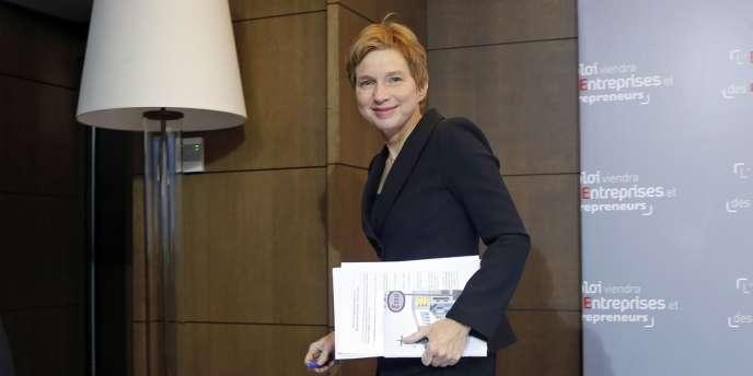 Laurence Parisot, présidente du Medef, lors d'une conférence de presse, le 15 janvier 2013.