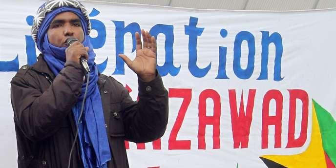 Moussa Ag Assarid, ici sur une photo du 7 avril 2012, à Paris.
