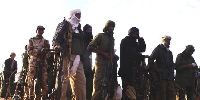 Des rebelles du MNLA, sur une photo fournie par le mouvement et datant de février 2012.